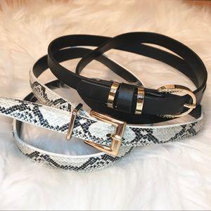 Accessories - (3/$15) Set of 2 high waist mini belts.